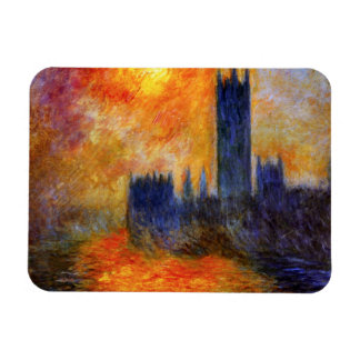 Monet House of Parliament and Sunset Magnet