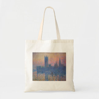 Monet - Houses of Parliament at Sunset Canvas Bags