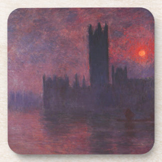 Monet Houses of Parliament at Sunset Coasters
