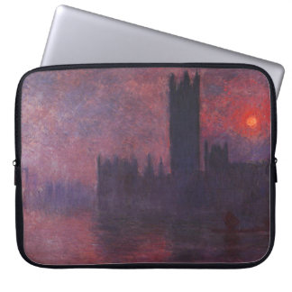 Monet Houses of Parliament at Sunset Laptop Sleeve