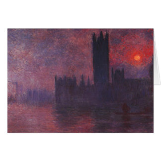 Monet Houses of Parliament at Sunset Note Card