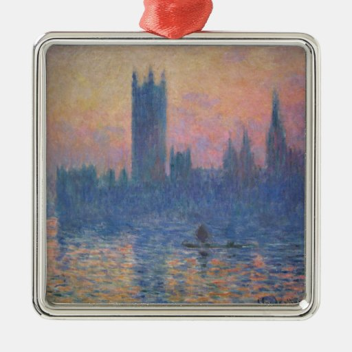 Monet - Houses of Parliament at Sunset Christmas Ornaments