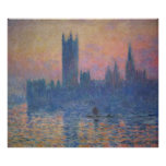 Monet - Houses of Parliament at Sunset Poster