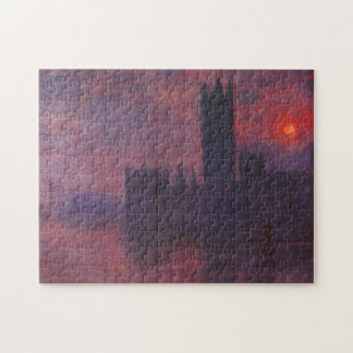 Monet Houses of Parliament at Sunset Puzzle