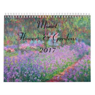 Monet Huge Flower and Gardens 2017 Calendar