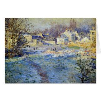 Monet - ilustraciones blancas de Frost Tarjeta De Felicitación