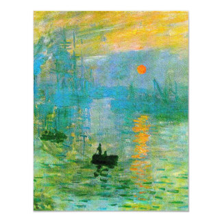 Monet Impressionism Sunrise Invitations