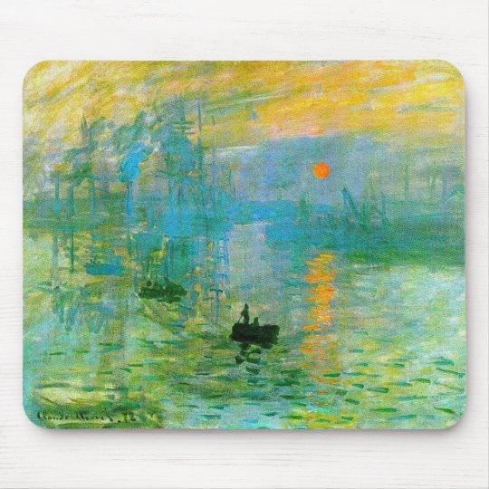Monet Impressionism Sunrise Mouse Pad