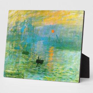 Monet Impressionism Sunrise Plaque
