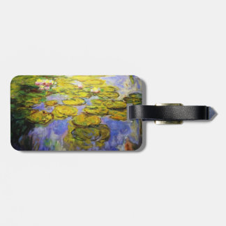 Monet Inspired Yellow Lily Pads Luggage Tag