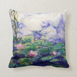 Monet inspiró lirios de agua cojín decorativo