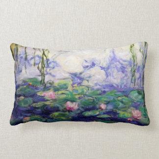 Monet inspiró lirios de agua cojín lumbar