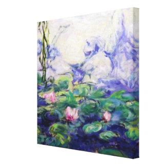 Monet inspiró lirios de agua impresión en lienzo
