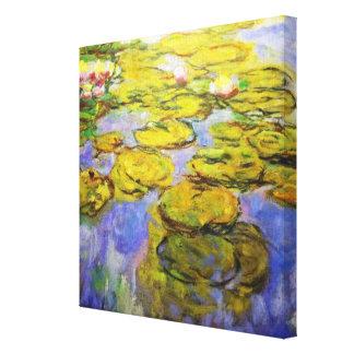 Monet inspiró los cojines de lirio impresión en lienzo