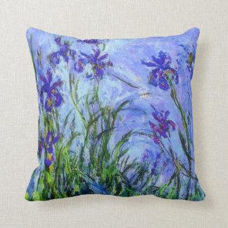 Monet - iris de la lila cojín