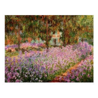 Monet - iris en el jardín de Monet Tarjetas Postales