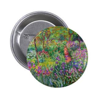 Monet Iris Garden at Giverny Button