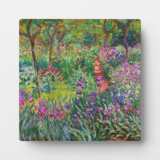 Monet Iris Garden at Giverny Plaque