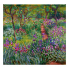 Monet Iris Garden at Giverny Poster