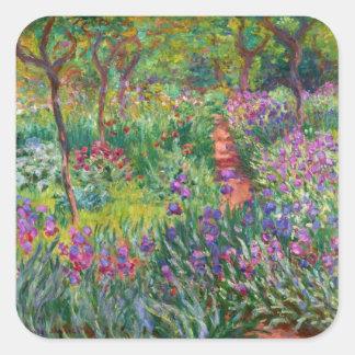 Monet Iris Garden at Giverny Stickers