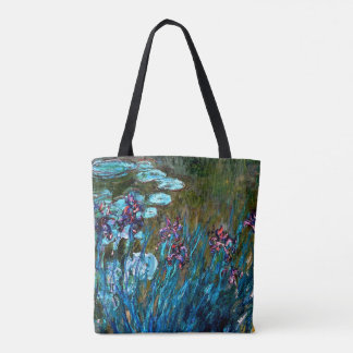 Monet - Irises and Water Lilies Tote Bag