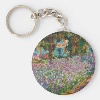 Monet Irises key chain