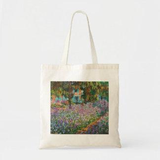 Monet Irises Tote Bag
