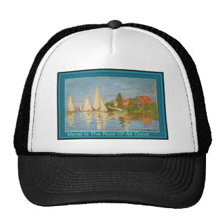 Monet Is The Root Of All Good Cap. Mesh Hats