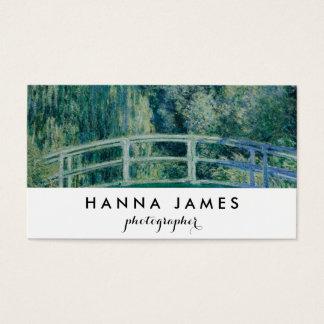 Monet Japanese Bridge Fine Art Personalized Text Business Card