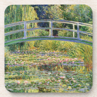Monet Japanese Bridge with Water Lilies Coasters