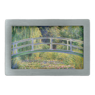 Monet Japanese Bridge with Water Lilies Rectangular Belt Buckle