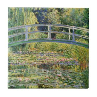 Monet Japanese Bridge with Water Lilies Tile