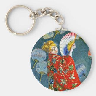 Monet - Japanese Costume - La Japonaise Keychain