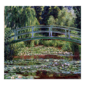 Monet Japanese Footbridge and the Water Lily Pool Poster