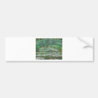 Monet- Japanese Footbridge Bumper Sticker