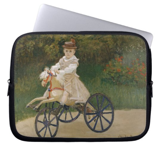 Monet - Jean on his Tricycle Computer Sleeve