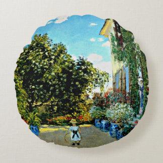 Monet - la casa del artista en Argenteuil Cojín Redondo