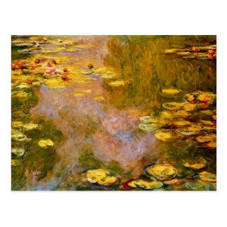 Monet - la charca del lirio de agua, cojines de postales