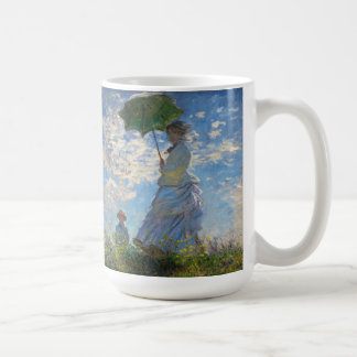 "Monet la mujer de la ""promenade"" con una taza del"