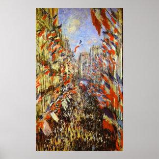 Monet, la ruda Montorgeuil, París, el 30 de junio  Póster