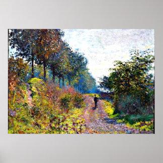 Monet - la trayectoria abrigada póster