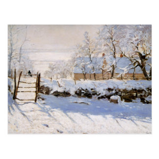 Monet - la urraca tarjetas postales