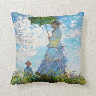 Monet Lady with a Parasol Classic Vintage Pillow