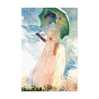 Monet Lady with Parasol Canvas