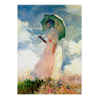Monet Lady with Parasol Poster