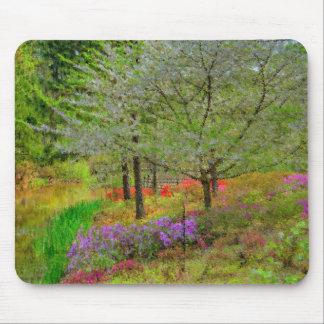 Monet Landscape Mouse Pad