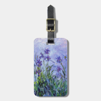 Monet Lilac Irises Luggage Tag