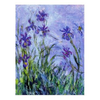 Monet Lilac Irises Postcard