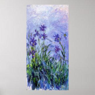 Monet Lilac Irises Poster