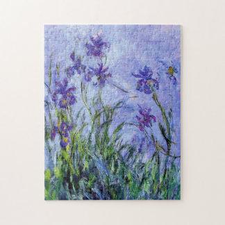 Monet Lilac Irises Puzzle